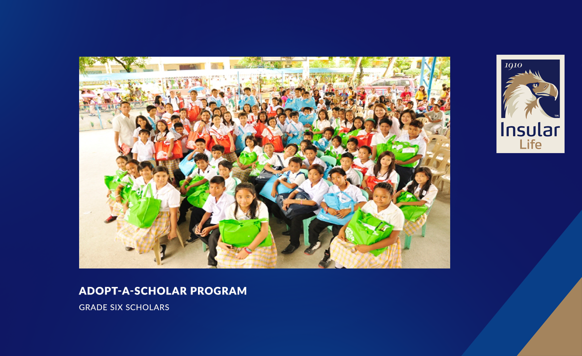Adopted scholars of Muntinlupa school receive school things