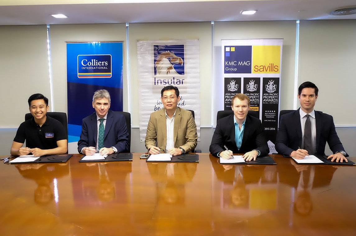 Insularlife contract signing for co management of makati building