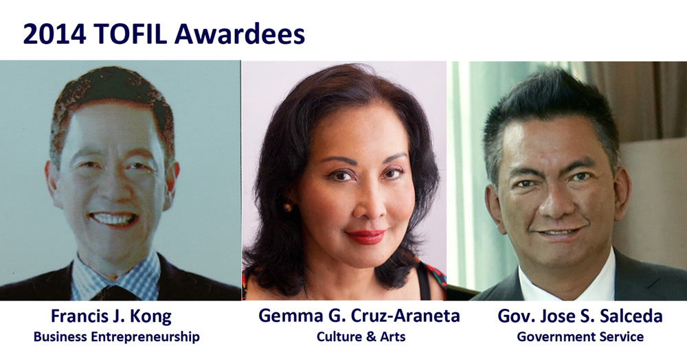 3 transformational leaders named 2014 TOFIL awardees