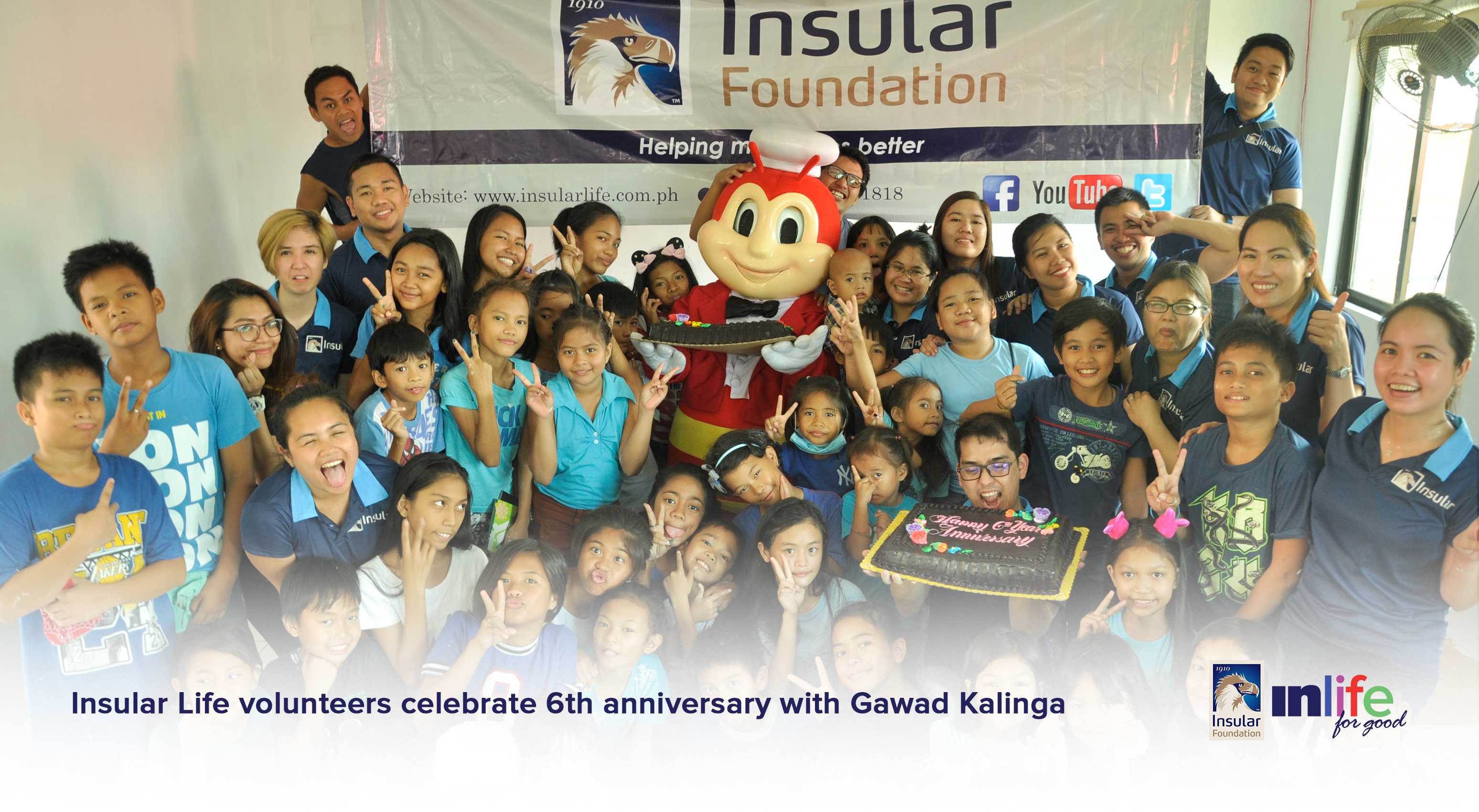 Insular Life Volunteers Celebrate 6th Anniversary With GK