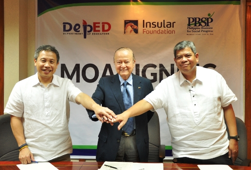 Insular Foundation supports PBSP and DepEd for Tacloban school construction