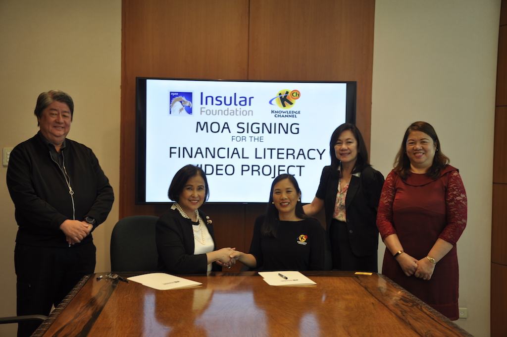 Insular Foundation and Knowledge Channel ink partnership for Financial Literacy Video Project